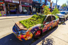 Αυτοκίνητο γκράφιτι Στοκ εικόνα με δικαίωμα ελεύθερης χρήσης