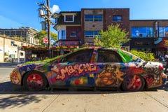 Αυτοκίνητο γκράφιτι Στοκ Φωτογραφία