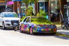 Αυτοκίνητο γκράφιτι Στοκ Εικόνες