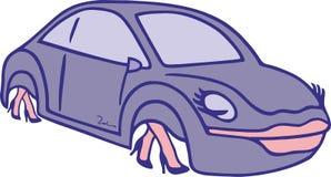 Αυτοκίνητο γυναικών ` s ελεύθερη απεικόνιση δικαιώματος