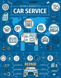Αυτοκίνητο διαγνωστικό και υπηρεσία σταθμών επισκευής ελεύθερη απεικόνιση δικαιώματος