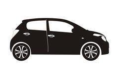 Αυτοκίνητο εικονιδίων hatchback στοκ εικόνες
