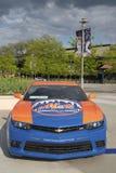 Αυτοκίνητο ειδικών εκδόσεων Camaro Mets Chevrolet στο μέτωπο του τομέα Citi, σπίτι της ομάδας Major League Baseball οι New York M Στοκ Φωτογραφίες
