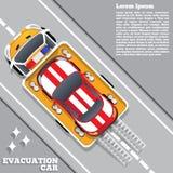 Αυτοκίνητο εκκένωσης Βοήθεια οδικών υπηρεσιών Στοκ Φωτογραφίες