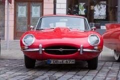 Αυτοκίνητο ε-τύπων ιαγουάρων oldtimer στον κλασικό 2017 Oldti Fuggerstadt Στοκ φωτογραφία με δικαίωμα ελεύθερης χρήσης