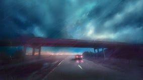 Αυτοκίνητο θύελλας στοκ εικόνα
