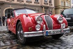 Αυτοκίνητο ιαγουάρων oldtimer Στοκ Φωτογραφίες