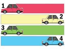 Αυτοκίνητο διαγραμμάτων και κενή ευθεία τροχιά ετικεττών διανυσματική απεικόνιση