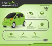 Αυτοκίνητο και μέρη αυτοκινήτου Eco infographic Στοκ φωτογραφίες με δικαίωμα ελεύθερης χρήσης