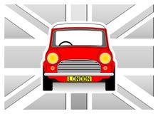 Αυτοκίνητο και σημαία Στοκ Εικόνα