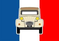 Αυτοκίνητο και σημαία Στοκ Εικόνες