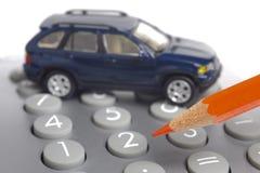 Αυτοκίνητο και υπολογισμός στοκ εικόνες