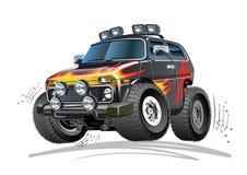 Αυτοκίνητο κινούμενων σχεδίων 4x4 διανυσματική απεικόνιση