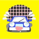 Αυτοκίνητο κινούμενων σχεδίων με πέρα από το φορτίο ορίου Στοκ Εικόνα