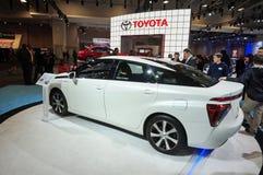 2015 αυτοκίνητο κυττάρων καυσίμου υδρογόνου της Toyota Mirai Στοκ εικόνες με δικαίωμα ελεύθερης χρήσης
