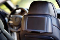 αυτοκίνητο μέσα Εσωτερικό του σύγχρονου αυτοκινήτου πολυτέλειας γοήτρου Επίδειξη για Στοκ Φωτογραφίες