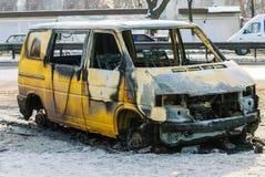 Αυτοκίνητο μετά από την πυρκαγιά Στοκ φωτογραφία με δικαίωμα ελεύθερης χρήσης