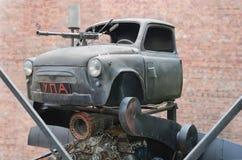 Αυτοκίνητο με ένα πολυβόλο Στοκ Φωτογραφία