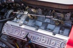 Αυτοκίνητο μηχανών Oldsmobile στην επίδειξη Στοκ Φωτογραφίες