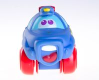 Αυτοκίνητο μωρών, αυτοκίνητο παιχνιδιών μωρών στο υπόβαθρο Στοκ Φωτογραφία