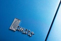 Αυτοκίνητο λογότυπων Camaro Chevrolet στην επίδειξη Στοκ Εικόνα