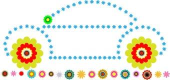 Αυτοκίνητο λουλουδιών διανυσματική απεικόνιση