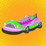 Αυτοκίνητο πάνινων παπουτσιών κινούμενων σχεδίων Στοκ εικόνες με δικαίωμα ελεύθερης χρήσης