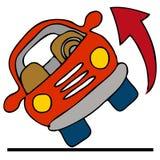 αυτοκίνητο πέρα από το κύλι διανυσματική απεικόνιση