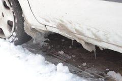 αυτοκίνητο παγωμένο Στοκ Φωτογραφία