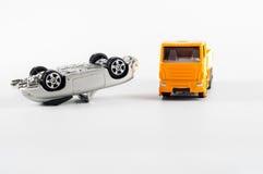 Αυτοκίνητο παιχνιδιών που συντρίβεται Στοκ εικόνα με δικαίωμα ελεύθερης χρήσης