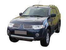 Αυτοκίνητο που απομονώνεται μαύρο στο λευκό στοκ εικόνες με δικαίωμα ελεύθερης χρήσης
