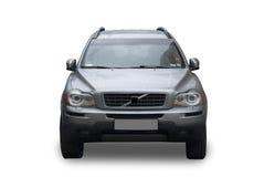 Αυτοκίνητο που απομονώνεται μπροστινό στο λευκό Στοκ Εικόνα