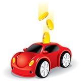 αυτοκίνητο που επενδύε&i απεικόνιση αποθεμάτων
