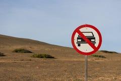 Αυτοκίνητο που επιτρέπεται κανένα στοκ εικόνες