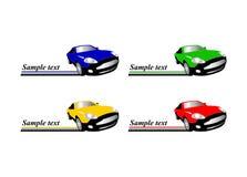 Αυτοκίνητο που συναγωνίζεται το αυτόματο λογότυπο απεικόνιση αποθεμάτων