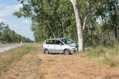 αυτοκίνητο που συντρίβεται Στοκ Φωτογραφία