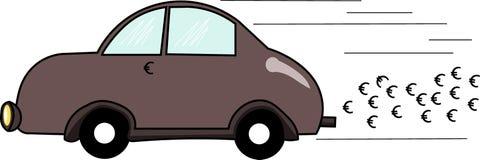 Αυτοκίνητο που χρησιμοποιεί τα ακριβά καύσιμα Στοκ φωτογραφία με δικαίωμα ελεύθερης χρήσης