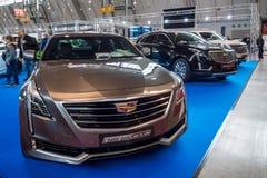 Αυτοκίνητο πολυτέλειας φυσικού μεγέθους Cadillac CT6 ΜΕ ΚΙΝΗΤΗΡΙΟΥΣ ΤΡΟΧΟΎΣ, 2016 Στοκ εικόνες με δικαίωμα ελεύθερης χρήσης