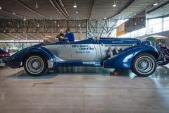 Αυτοκίνητο πυρόξανθο Duesenberg πρότυπο SJ Cabrio πολυτέλειας Στοκ Φωτογραφίες