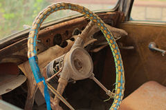 αυτοκίνητο σκουριασμέν&o Εσωτερικό οχημάτων Στοκ Φωτογραφία