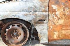 αυτοκίνητο σκουριασμέν&o Στοκ Εικόνα