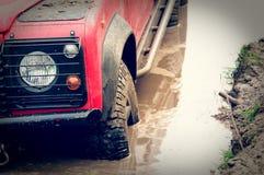 Αυτοκίνητο στη λάσπη Στοκ φωτογραφίες με δικαίωμα ελεύθερης χρήσης