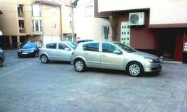 Αυτοκίνητο στη γωνία στοκ εικόνες