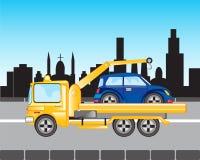 Αυτοκίνητο στις εκκενώσεις στην πόλη Στοκ Εικόνες