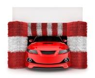 Αυτοκίνητο στο πλύσιμο αυτοκινήτων διανυσματική απεικόνιση