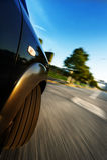 Αυτοκίνητο στο δρόμο Στοκ φωτογραφίες με δικαίωμα ελεύθερης χρήσης