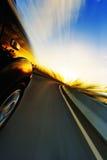 Αυτοκίνητο στο δρόμο Στοκ Φωτογραφίες