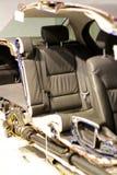 αυτοκίνητο σύγχρονο αποκοπή μισή στοκ φωτογραφία
