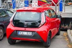 Αυτοκίνητο της Toyota Aygo AB40 Στοκ φωτογραφία με δικαίωμα ελεύθερης χρήσης