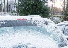 Αυτοκίνητο το χειμώνα Στοκ Φωτογραφία